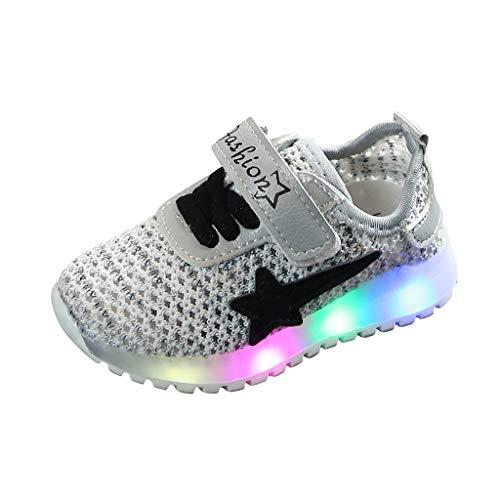 Masoness ⭐⭐ Herbst Breathable Baby Kleinkind LED Licht Schuhe,Kleinkind Säuglingsflaggen Baby Jungen Breathable LED leuchtende Sportschuh Turnschuhe
