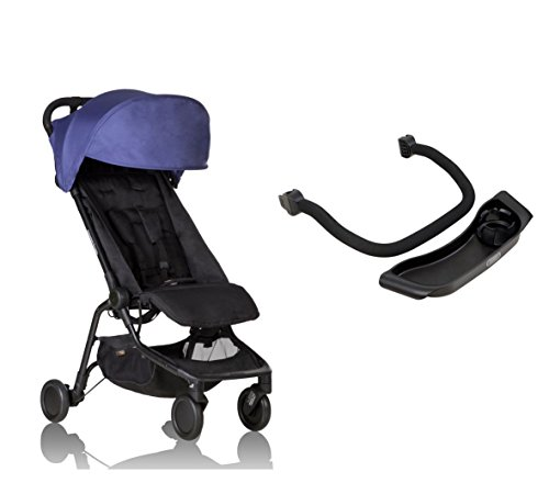Mountain Buggy Nano V2 Kinderwagen nautical + Frontbügel + Tablett - inkl. Reisetasche