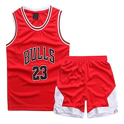 Hanbao Kinder NBA Michael Jordan # 23 Chicago Bulls Jersey Männlichen Basketball Kleidung Anzug Trainingsbekleidung Outdoor Sport Kleidung