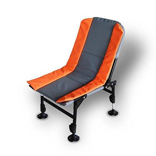 TTYY Chaise pliante en plein air Chaise pliante de camping de pique-nique confortable , Orange