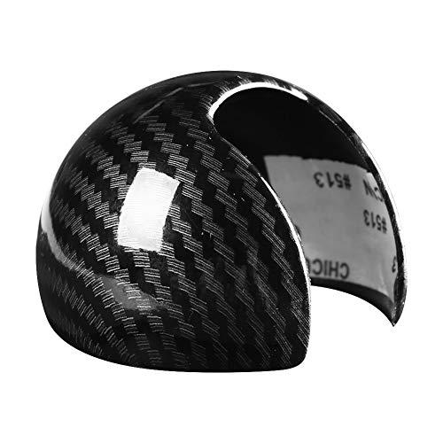 Outbit Schaltknaufabdeckung - Carbon Fiber Style Car Schaltknauf Head Cover Cap Aufkleber für Audi A3 8 V S3 14-18