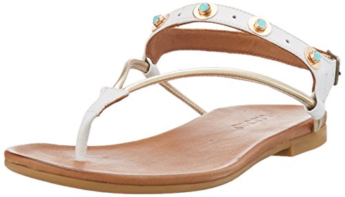 Inuovo 7293, Weiß (blanc-or) Chaussons Pour Femmes