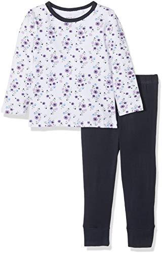 NAME IT Baby-Mädchen Zweiteiliger Schlafanzug NKFNIGHTSET Dark Sapphire NOOS, Mehrfarbig, 86