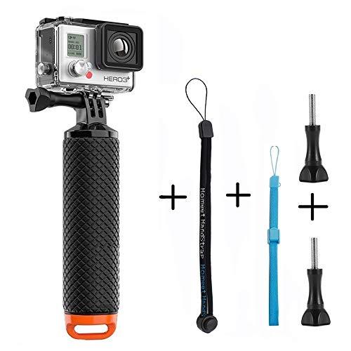 Homeet Schwimmer Handgriff Schwimmender Hand Grip Unterwasser Handstick Monopod Pole Selfie Stick Ergonomisch für GoPro Hero 5/4/3+/3/SESSION/ SJCAM Garmin Virb Yi 4K DBPOWER QUMOX Akaso,Orange