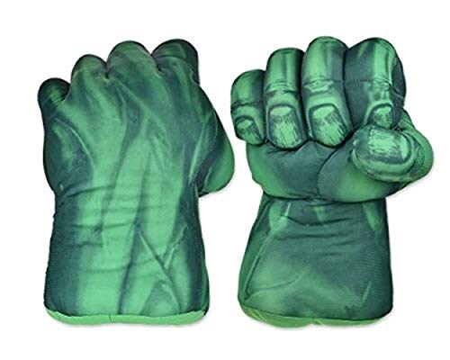 LIUMSJ The Hulk Kids Boxhandschuhe, 1 Paar Smash Hands Fists Big Soft Plüsch Kostüm Cosplay Superheld Spielzeug Trainingshandschuhe für Kinder Kinder, Jugendliche, Mädchen Jungen Geburtstag