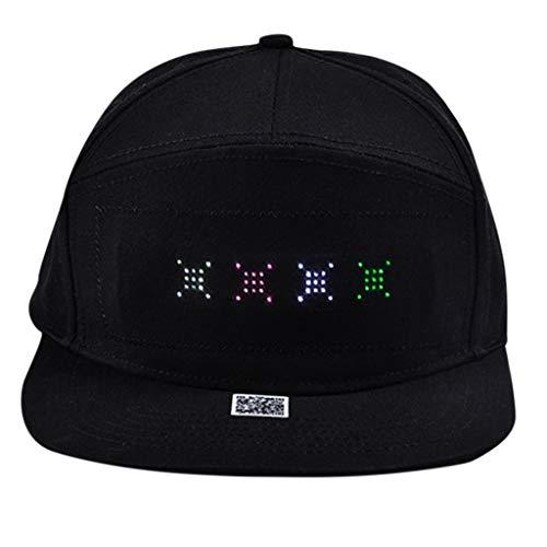 Fenverk Tribly Party Hut LED Beleuchtung, Unisex-Erwachsene Baseball Nachtfeld Hut(C - Gryffindor Kostüm Muster