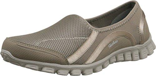 Skechers Ez Flex 2 Drop In Go Womens Slip On Sneakers Taupe