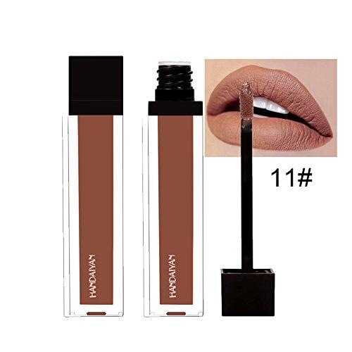 HANDAIYAN 1x Rouge à lèvres Maquillage Waterproof Liquide Glitter Beauté Brillant Rouge à Lèvres Lip Gloss Liquid Longue Tenue Lipstick # 11