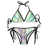 Sexy Triangle Bain Deux Pièces Women's Bathing Suit Adjustable Fairy Girl Blue Purple Magic Sexy Bikini Set