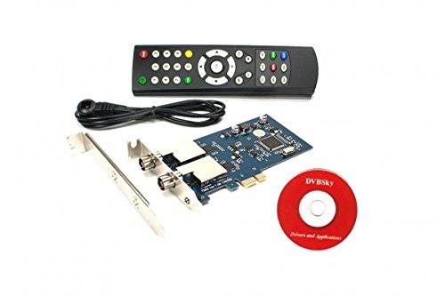 DVBSky T982 V2 PCIe Karte (Low Profile) mit 2X DVB-T2 / DVB-C Tuner (Dual Twin Tuner)