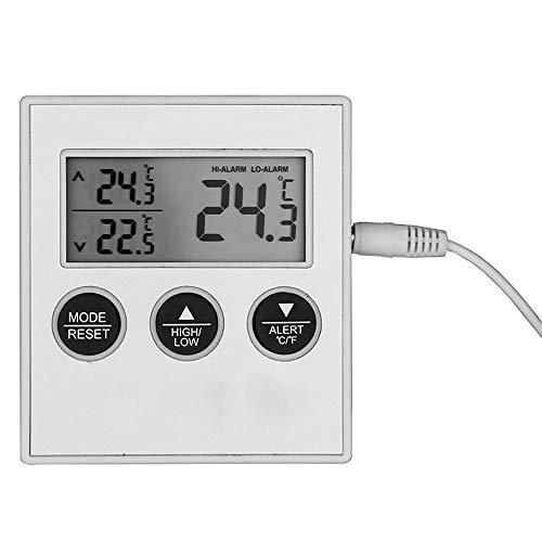 Digitales Kühl-/Gefrierschrank-Thermometer, LCD-Display, °C/°F mit hoher niedriger Temperatur, Warnung akustischer Alarm Funktion Gefrierschrank Kühler für Zuhause Küche -
