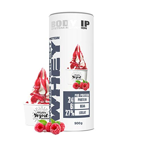Perfect Whey Protein (BODY IP Simons Perfect Whey Protein | Eiweißpulver für den Muskelaufbau | Frozen Yogurt Raspberry | hoher BCAA und EAA Anteil | 30 Portionen)