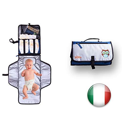 Fasciatoio Portatile Da Viaggio Neonato Pieghevole Impermeabile [2a Generazione] Cuscino...