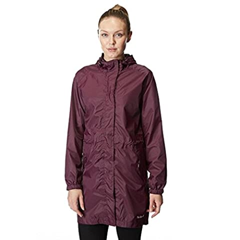 Peter Storm Women's Parka in a Pack Jacket, Plum, 16