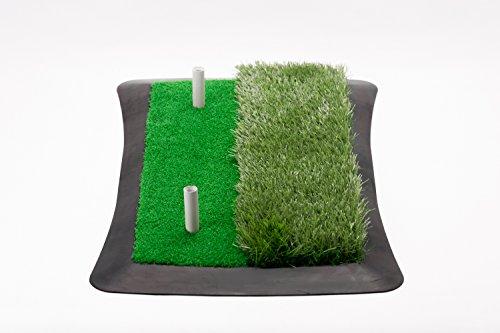 Golf Abschlagmatte (60 cm x 30 cm) / inkl. Gummi-Tees/Verschiedene Grashöhen -