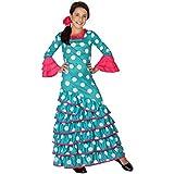 Atosa 26539 - Flamenco, azul, chica, tamaño 116, la luz azul / blanco