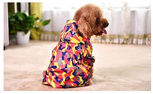 Unbekannt ML Hundebekleidung Haustier Hund Golden Retriever Teddybär Kostüm Camo Red, M