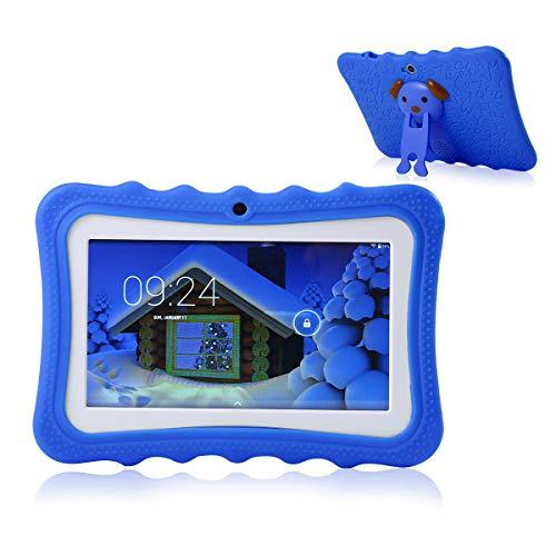 TEEPAO Tablette Tactile Enfants,Tablette 7 Pouces WiFi,Android 4.4,IPS HD 1024x600,Silicone Housse de Béquille,Tablette avec Caméra