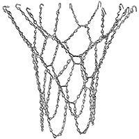 perfk Heavy Duty Metal Chain Link Basketball Net para Estándar Interior O Exterior Basketball Hoop Rim Silver