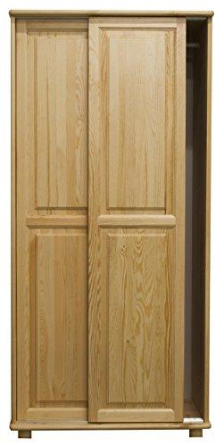 Kiefer-Kleiderschrank A-Qualität, Farbe: Natur 190x90x60 cm