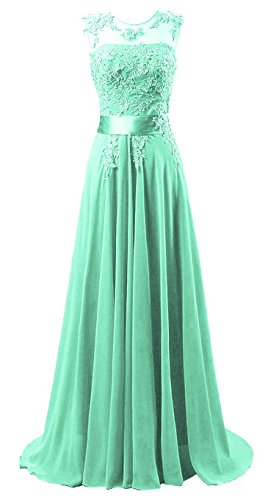 Tiffany Ballkleid (Edaier Damen Lange Chiffon Abendkleid Formales Kleid Größe 60 Mintgrün)