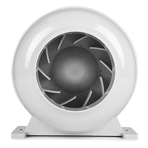 HELEISH 4 Zoll 100mm Rohrleitungs-Zentrifugalventilator stark für Küchen-Badezimmer-Abluftkanal-Gebläse Zubehörwerkzeug