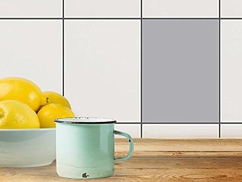 Protection moderne   Film amovible décoratif carreaux - Enjolivement de salle de bains   Motif Gris 3   15x20 cm (1 pièce)