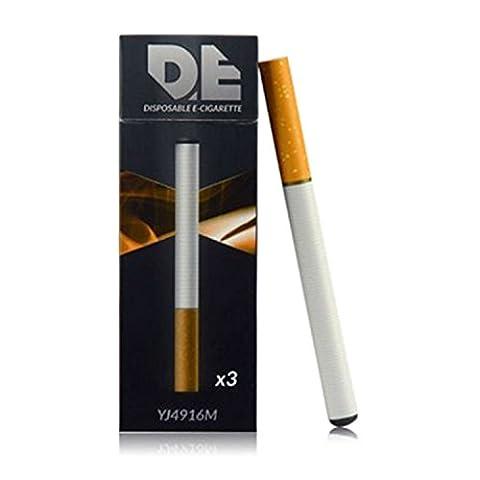 DE 3xE-cigarettes jetables au goût tabac de 500 bouffées chacune (Sans nicotine ni tabac)