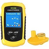 Yujeet Buscador de Peces Portátil Sensor de Sonda Buscadores de Peces para Deportes de Pesca (Inalámbrico)