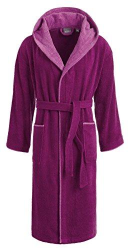 Egeria CAIRO Unisex Bademantel mit Kapuze für Damen und Herren, Farbe Vivid Pink, Größe M