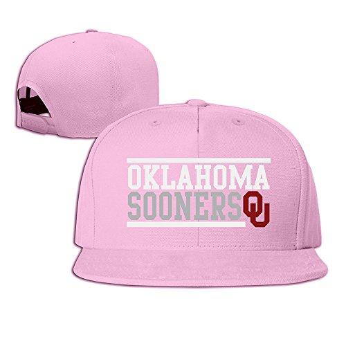 hmkolo Oklahoma Sooners Baumwolle Flat Bill Baseball Snapback Cap Hat Unisex, unisex, rose -
