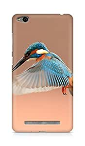 Amez designer printed 3d premium high quality back case cover for Xiaomi Redmi 3S (Beautiful Flapping Kingfisher Bird)