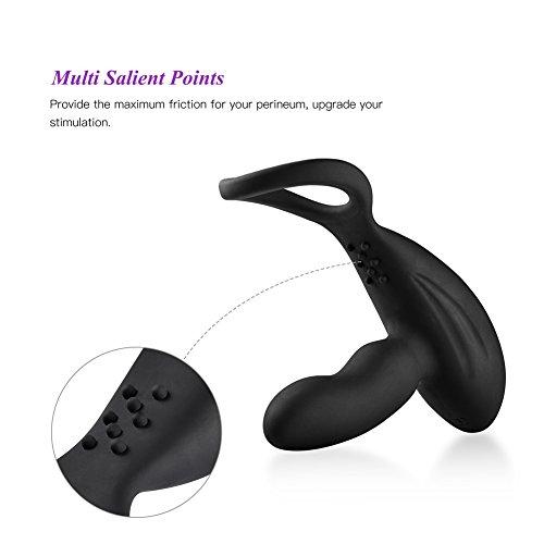 Utimi Prostata Massagegerät Silikon Vibrator 11 Modi Analvibrator Penisring Perineum Stimulator mit Kabellose Fernbedienung - 5