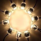 LEDMO 12 Pezzi 9W Faretti LED Incasso, 3000K Bianco Caldo Faretti LED da Incasso per Cartongesso,Faretti da Interno, LED Luce Staccabili Bianca Calda Luce Segnapasso Bordo Controsoffitto