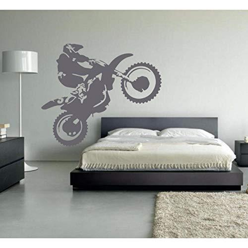 Wandaufkleber Motocross Vinylwand -Aufkleber Motorrad Moto Wandaufkleber Abziehbild für Wohnzimmer Schlafzimmer -Dekoration Dirt Bike 49x 42cm