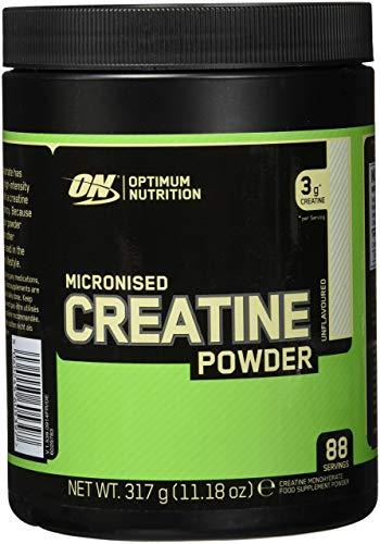 Optimum Nutrition Creatina Monoidrata (Micronised Creatine) 317 g, 88 Porzioni, Integratori Palestra per lo Sviluppo Muscolare, Non Aromatizzato