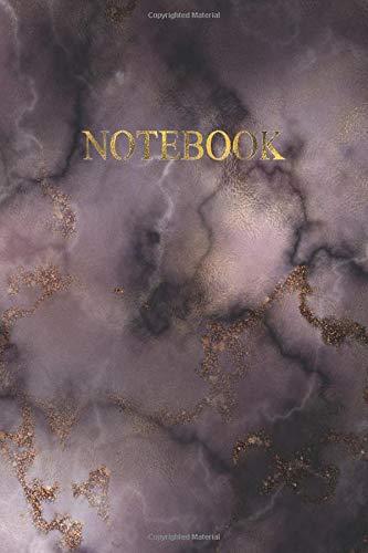 Notebook: Quaderno puntinato -  120 pagine numerate con spazio superiore per la date - Elegante effetto Marmo scuro con scritte in Oro Antico - Misura ... Doddles, Schizzi, Disegni, Note, Memo