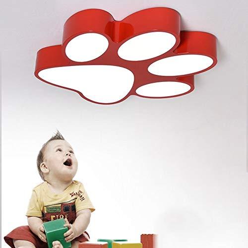Deckenleuchten - Cute Cartoon LED Prints Kinderzimmer Tricolor Deckenleuchten mit Deckenleuchten Creative Pet Shop Deckenleuchten für Orgy Zimmer (Farbe, Optional Größe) - Warm Home (Farbe: Gelb-60) -