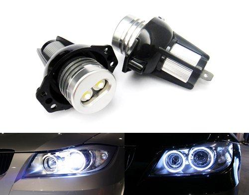 Preisvergleich Produktbild Luffy 63117161444, 63112179077 Scheinwerfer Ringförmige LED-Birne, Xenon-Birne Weiß 2