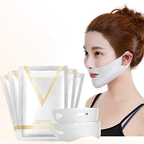 Rowentauk V Gesichtsmaske, Face Slimming Lift Chin Mask, V-förmige feuchtigkeitsspendende straffende Gesichtsmaske, reduziert die Form des Doppelkinns
