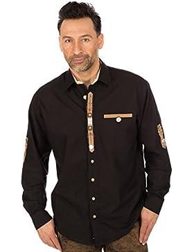 orbis Textil Trachtenhemd Schwarz