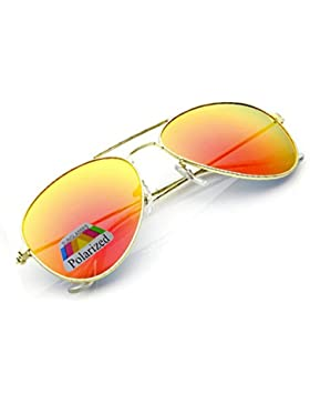 Morefaz - Gafas de sol unisex estilo aviador, polarizadas, protección UV400