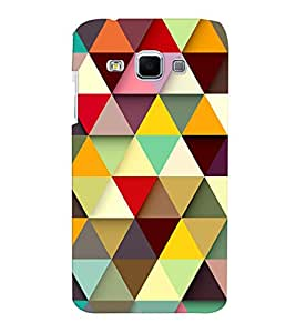 Samsung J3 Stylish Multicolor Geometric Patter Mobile Cover