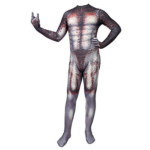 Predator Kostüm Kinder Erwachsener Cosplay Kostüm Superhelden Halloween Onesies Mottoparty Karneval Strumpfhosen Kostümball Prop,Adult-L