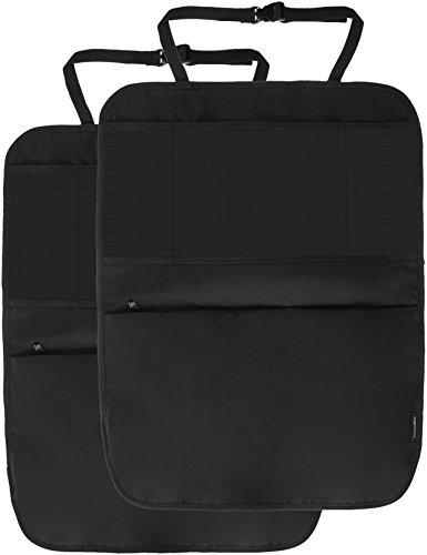 AmazonBasics - Organizador para asiento trasero de coche, con esteras protectoras (Pack...