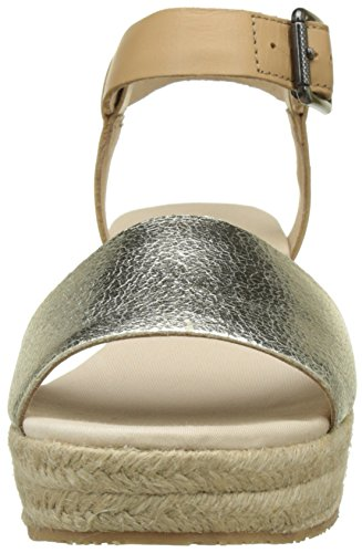 Tommy Hilfiger Damen L1385ory 1c Knöchelriemchen Gold (Light Gold-Natural 901)