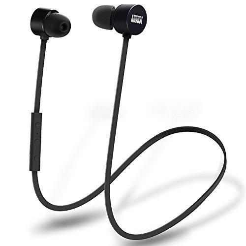 In Ear Bluetooth Sport Kopfhörer - August EP616 - Wasserfeste (IPX4) Ohrhörer mit Bluetooth v4.1 aptX und CVC 6.0 Noise Cancellation (schwarz) thumbnail