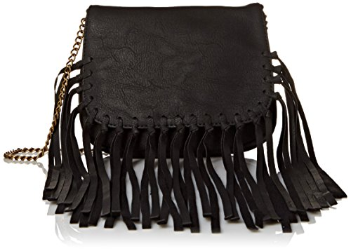 twig-arrow-knotted-fringe-crossbody-with-flap-messenger-bag-black-one-size