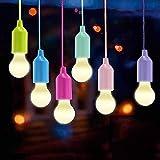 Queta LED Lampen, LED Leuchte Camping Laterne, Tragbare 6er Set Licht für Deko, Wandern, Schreibtisch, Camping, Zelt, Garten, BBQ (Batteriebetrieben)