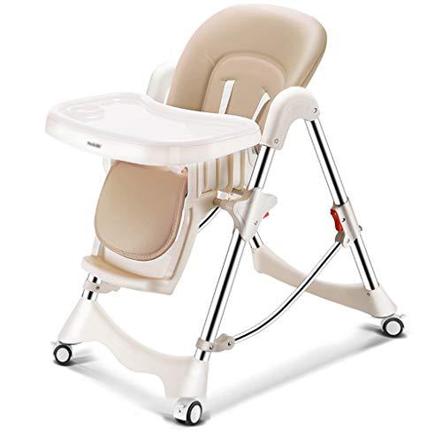 Kinder, Die Stuhl Speisen, Abnehmbare Bewegliche Multifunktionsanpassung Play Eat Sit Lie Down High Hocker für Zuhause für 0-4 Jahre Alte Kinder (Farbe : Beige) -